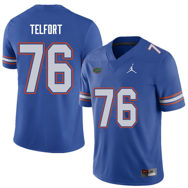 Jordan Brand Men #76 Kadeem Telfort Florida Gators College Football Jerseys Sale-Royal